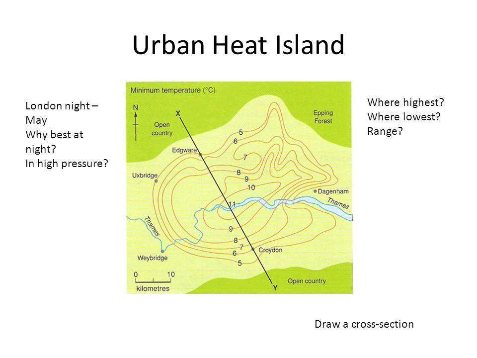 Urban Heat Island London night – May Why best at night.