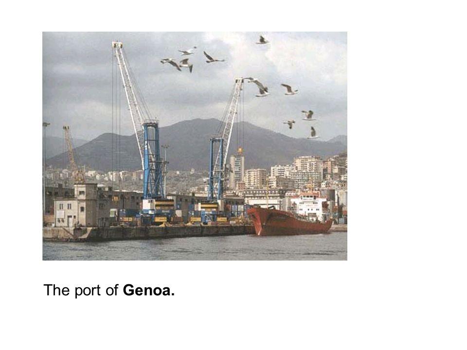 The port of Genoa.