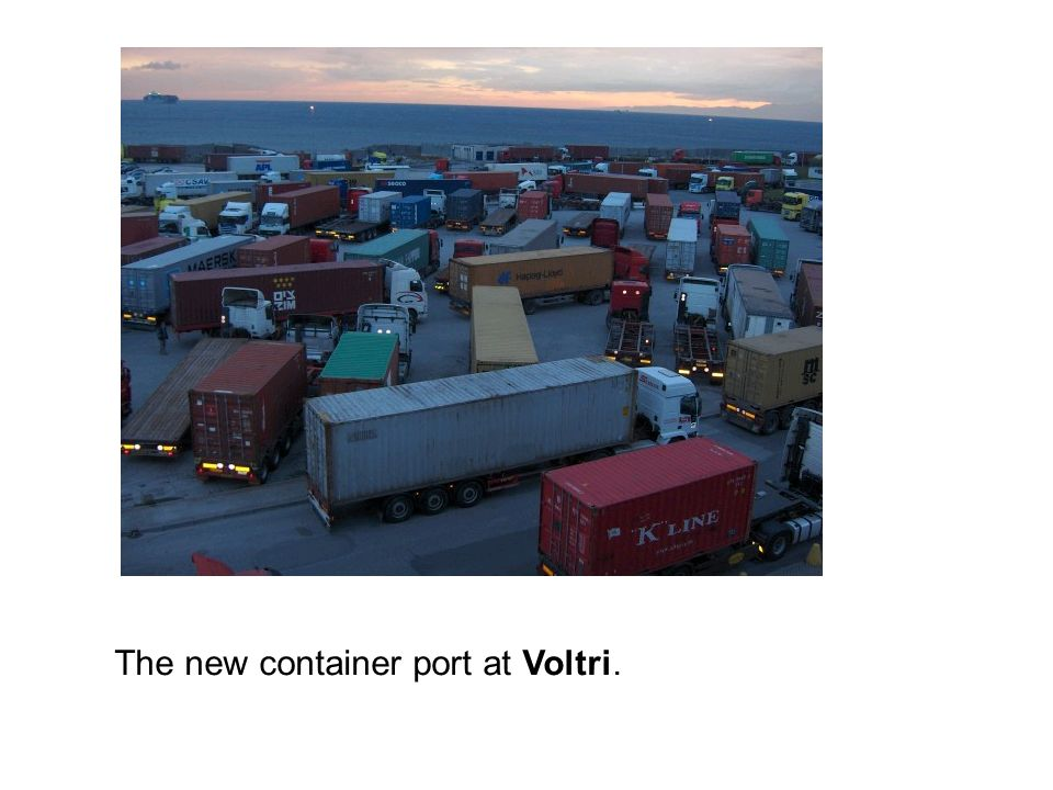The new container port at Voltri.