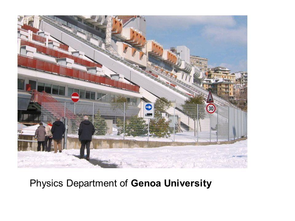 Physics Department of Genoa University