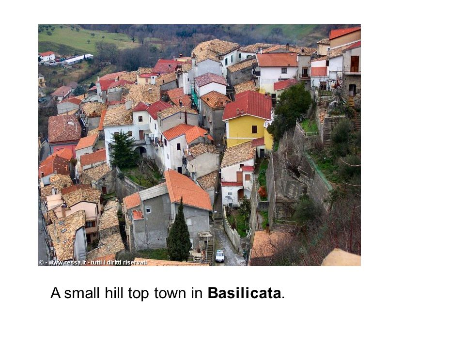 A small hill top town in Basilicata.