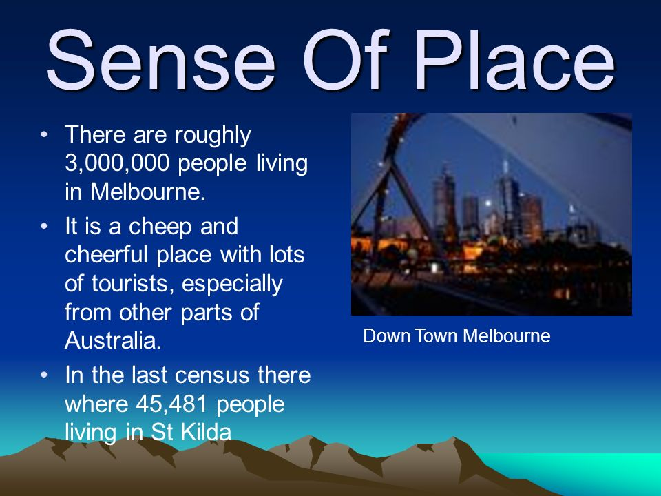 Where I live. My name is Kyle McQueen. I live in St Kilda Melbourne.