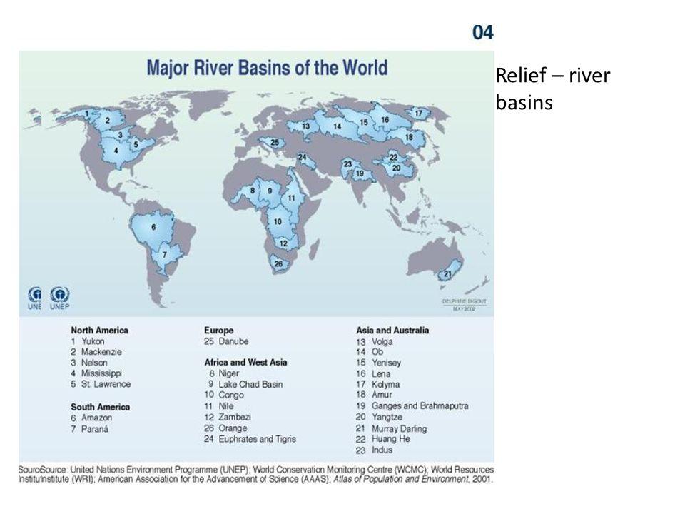 Relief – river basins