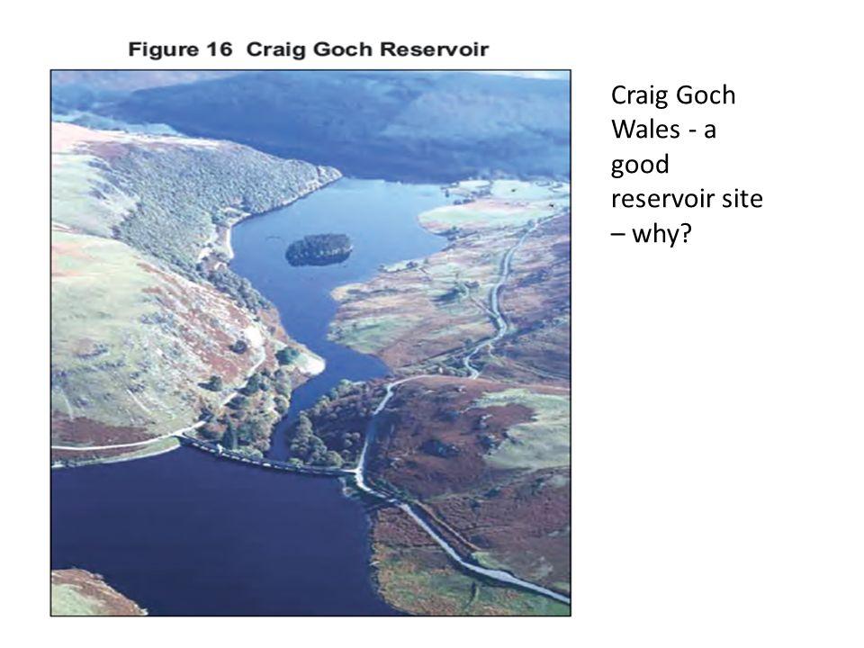 Craig Goch Wales - a good reservoir site – why?