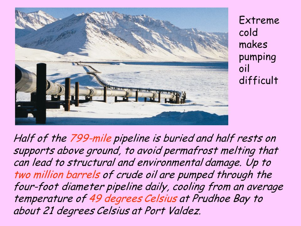 The Oil is out in the Beaufort Sea and is drilled for from oil rigs.