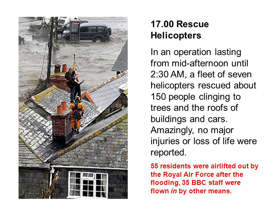 17.00 Rescue Helicopters.