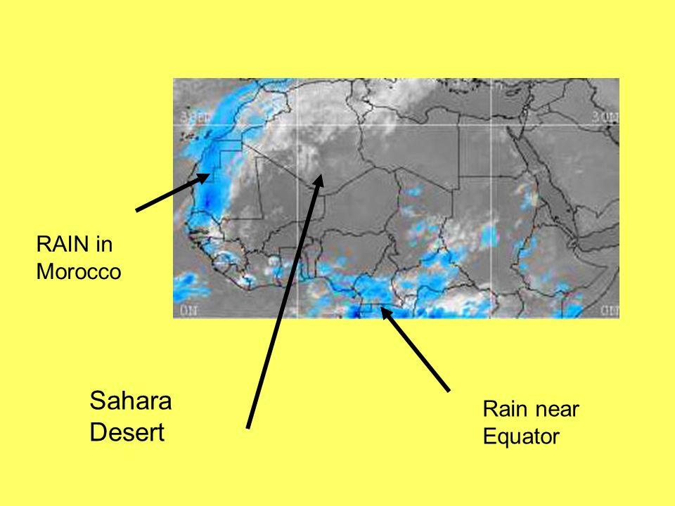 RELIEF RAINFALL and RAIN SHADOW Atlantic OceanAtlas MountainsSahara Desert