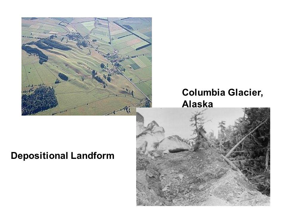 Depositional Landform Columbia Glacier, Alaska