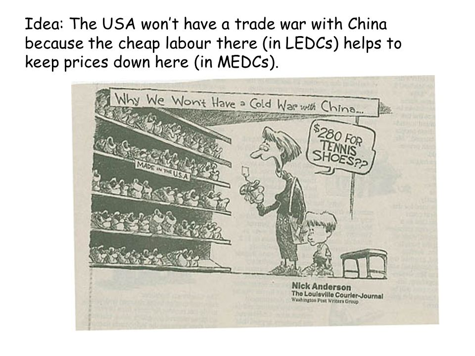 Idea: The USA dominates World Trade