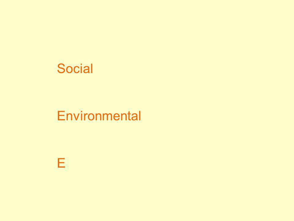 Social Environmental E