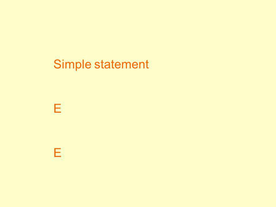 Simple statement E