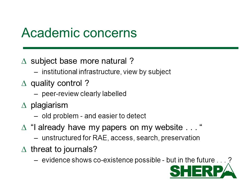 Academic concerns subject base more natural .