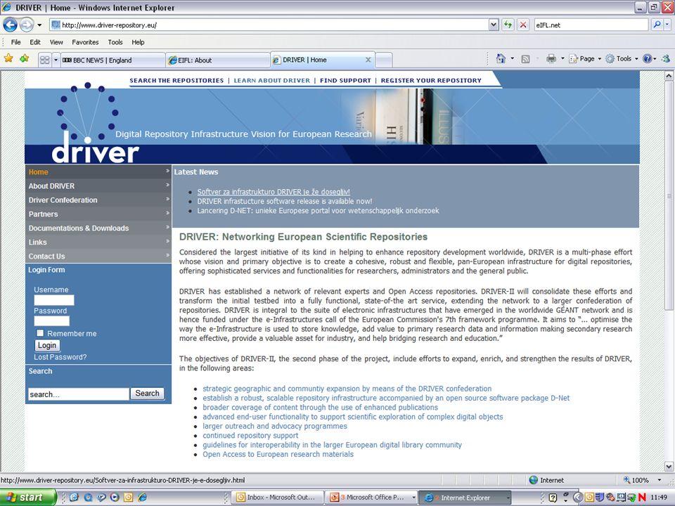 DRIVER website Screenshot 2: Support site