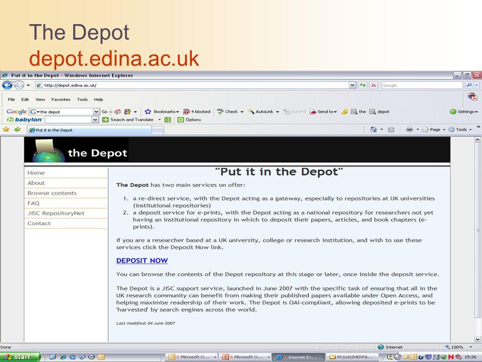 The Depot depot.edina.ac.uk