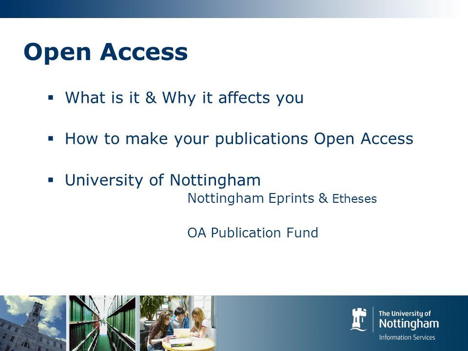 Open Access: How? OA Journals OA repositories