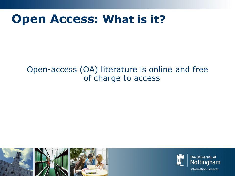 Open Access: How.
