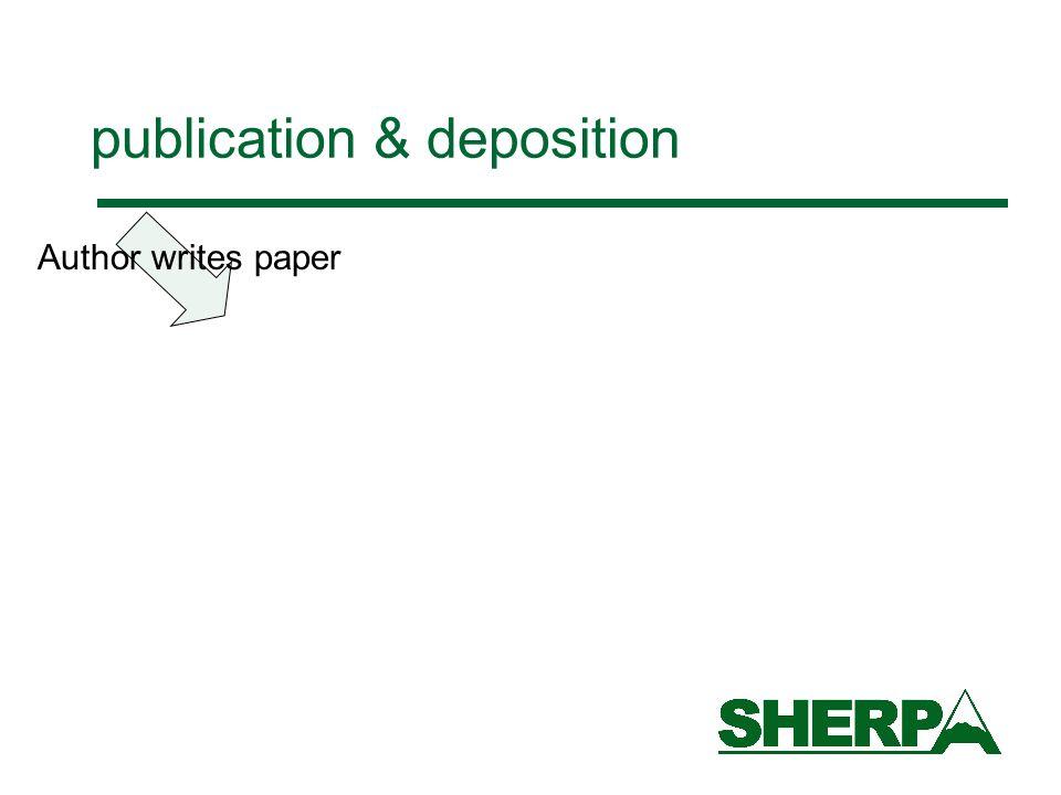Author writes paper