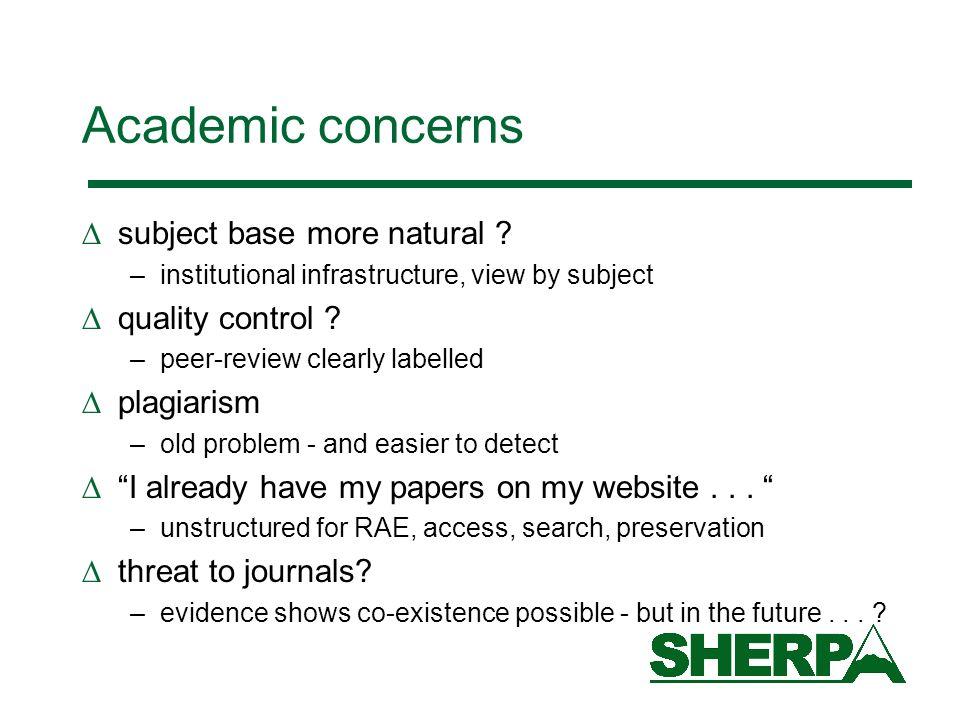 Academic concerns subject base more natural .
