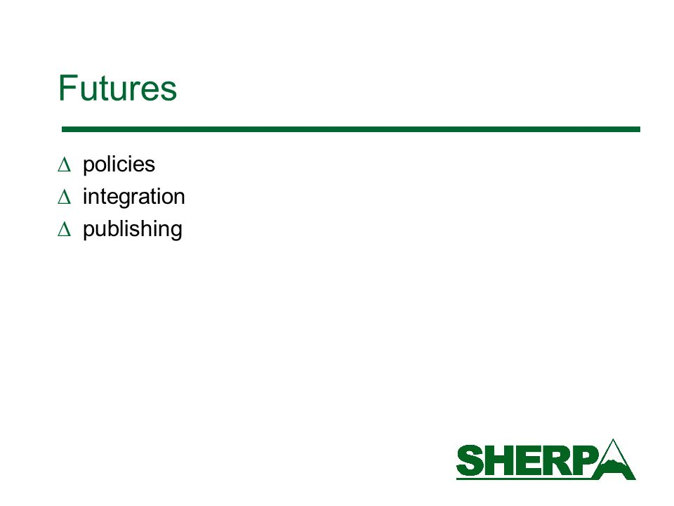 Futures policies integration publishing