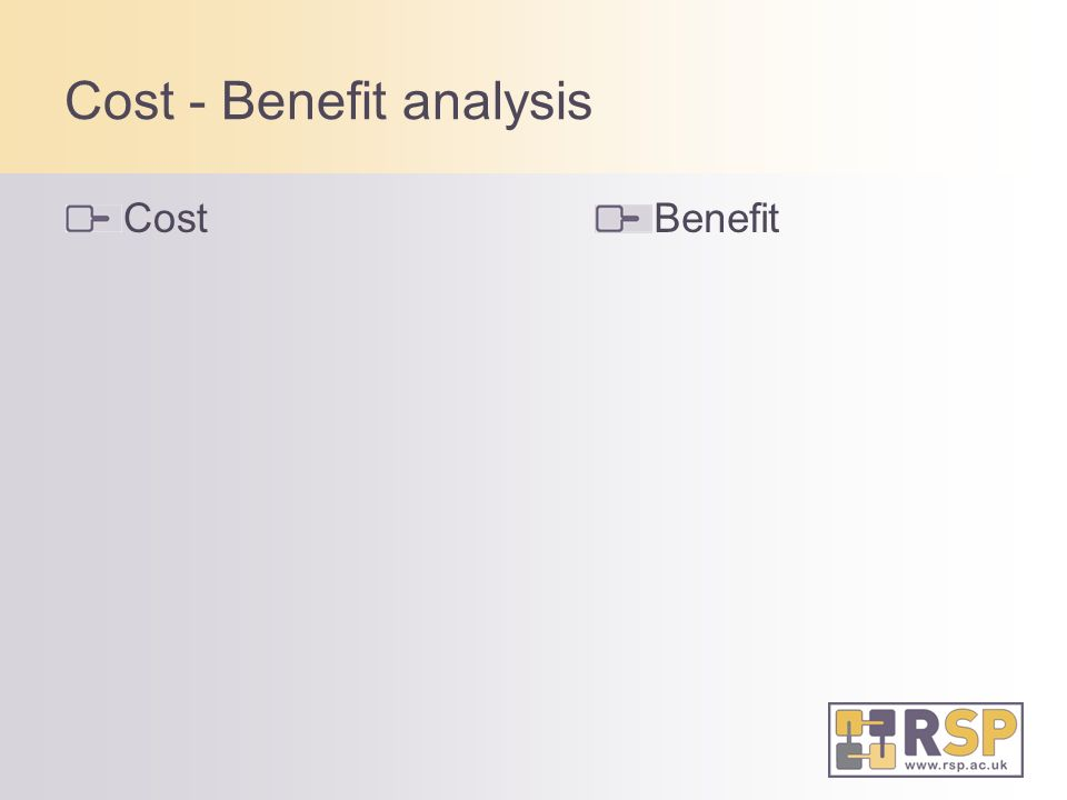 Cost - Benefit analysis CostBenefit