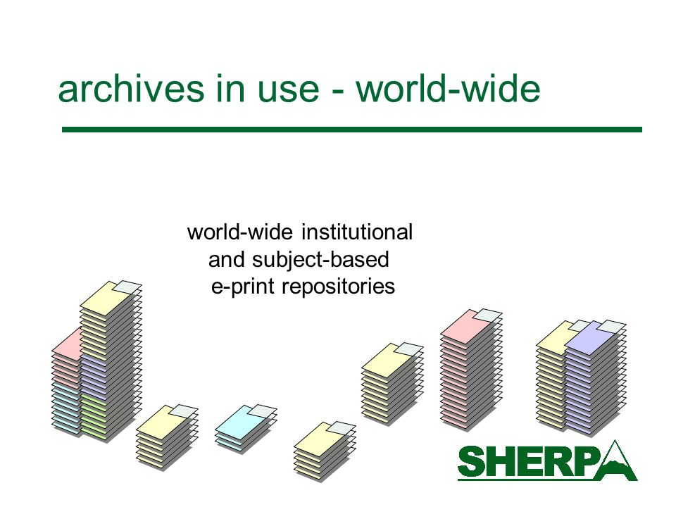 archives in use - world-wide world-wide institutional and subject-based e-print repositories