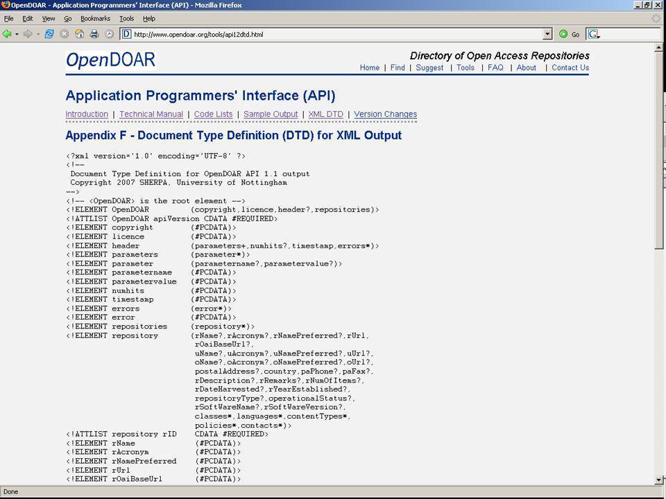 DTD for XML