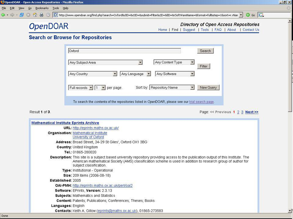 OpenDOAR Tools page 2