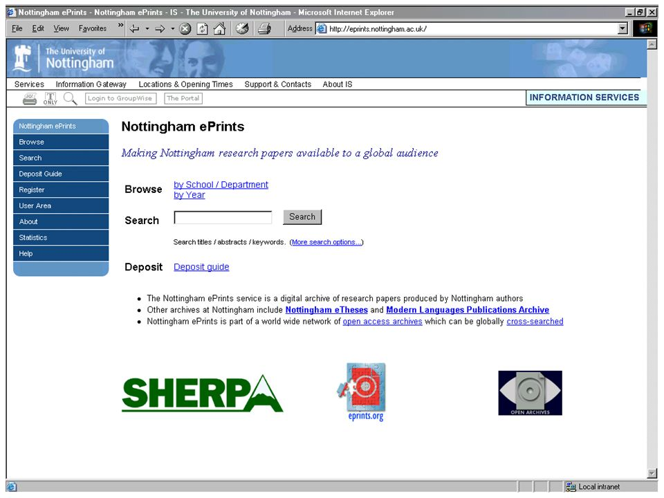 Nottingham ePrints Home Page