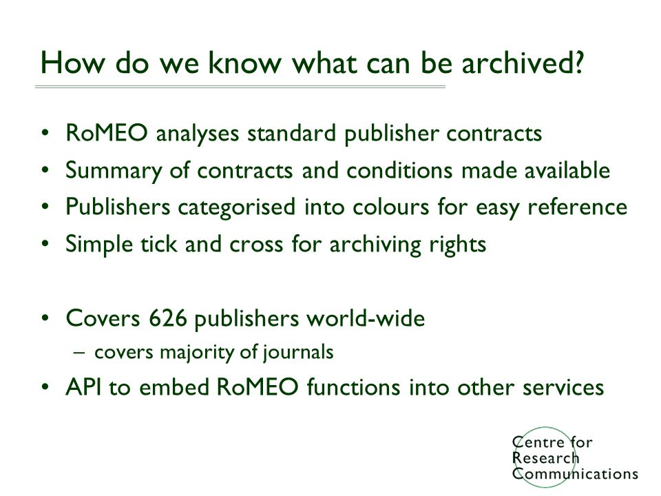 How do we know what can be archived.