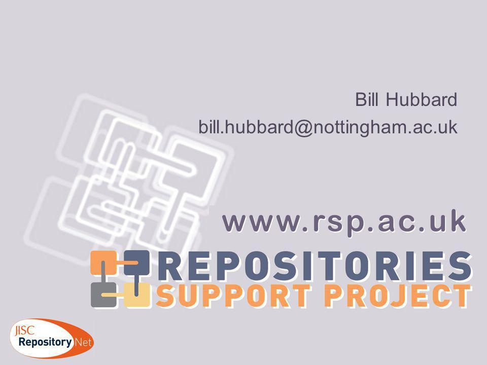 Bill Hubbard bill.hubbard@nottingham.ac.uk