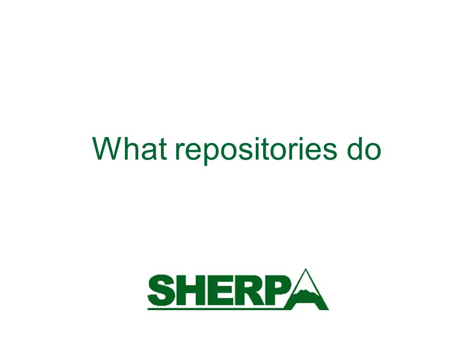 What repositories do