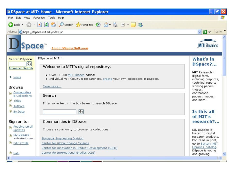 Repositories Subject / institutional Open access / restricted access E-prints / other digital content