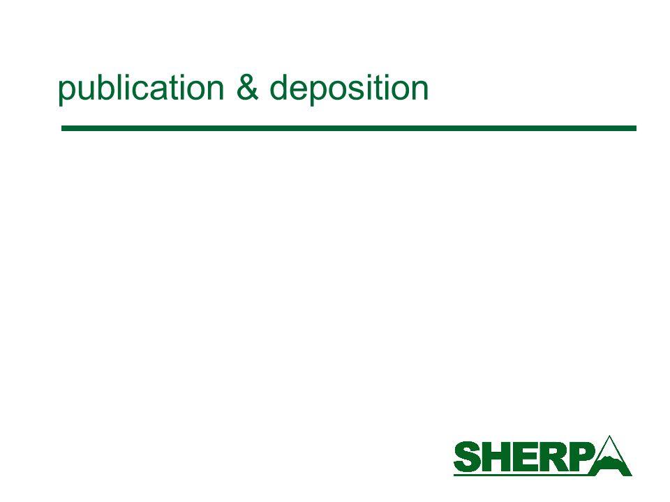 publication & deposition