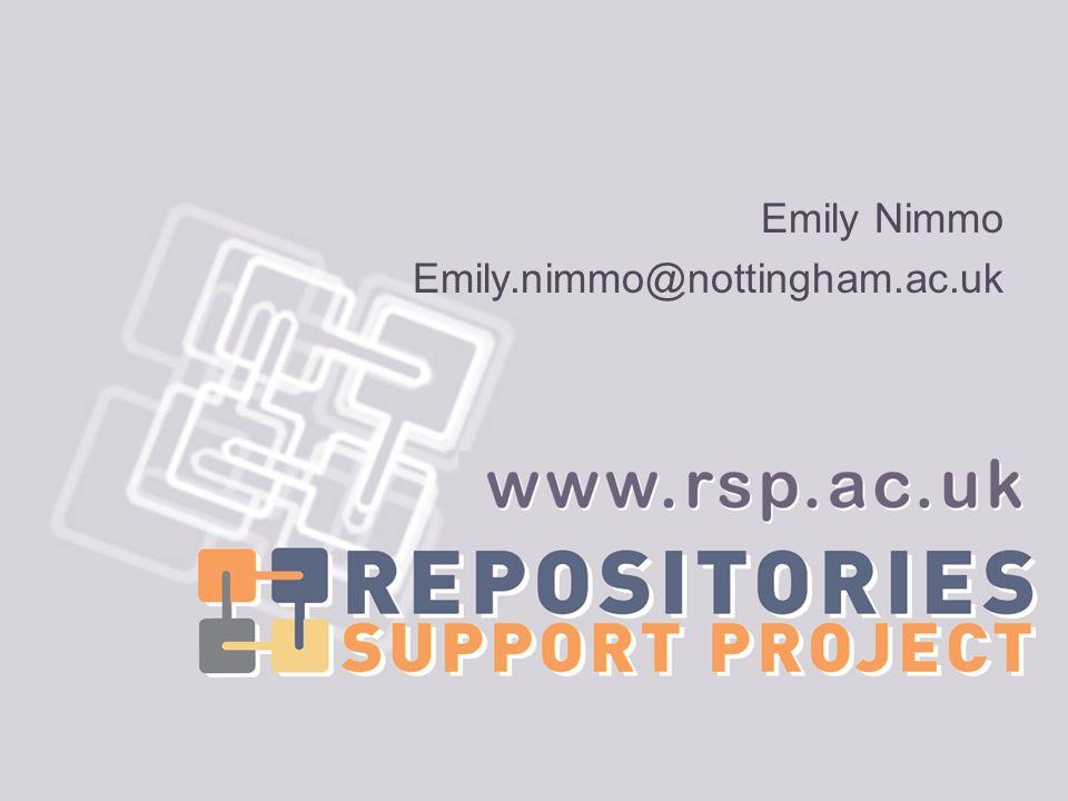 Emily Nimmo Emily.nimmo@nottingham.ac.uk