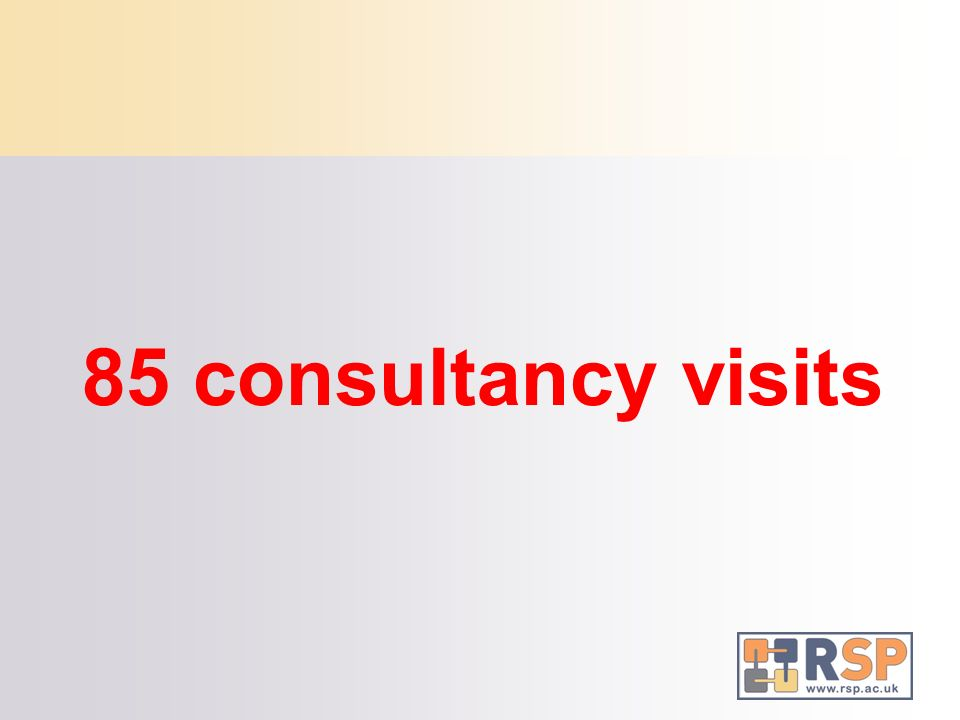 85 consultancy visits