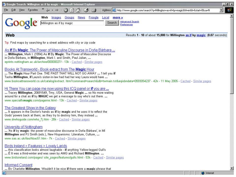 Google - Millington