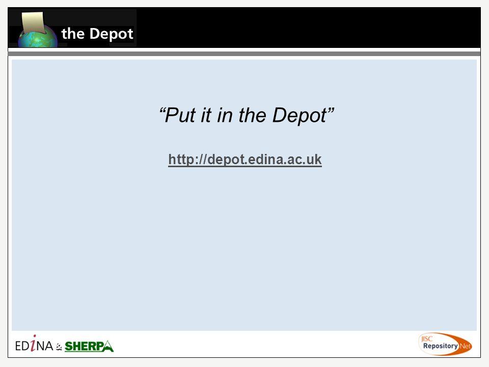 Put it in the Depot http://depot.edina.ac.uk