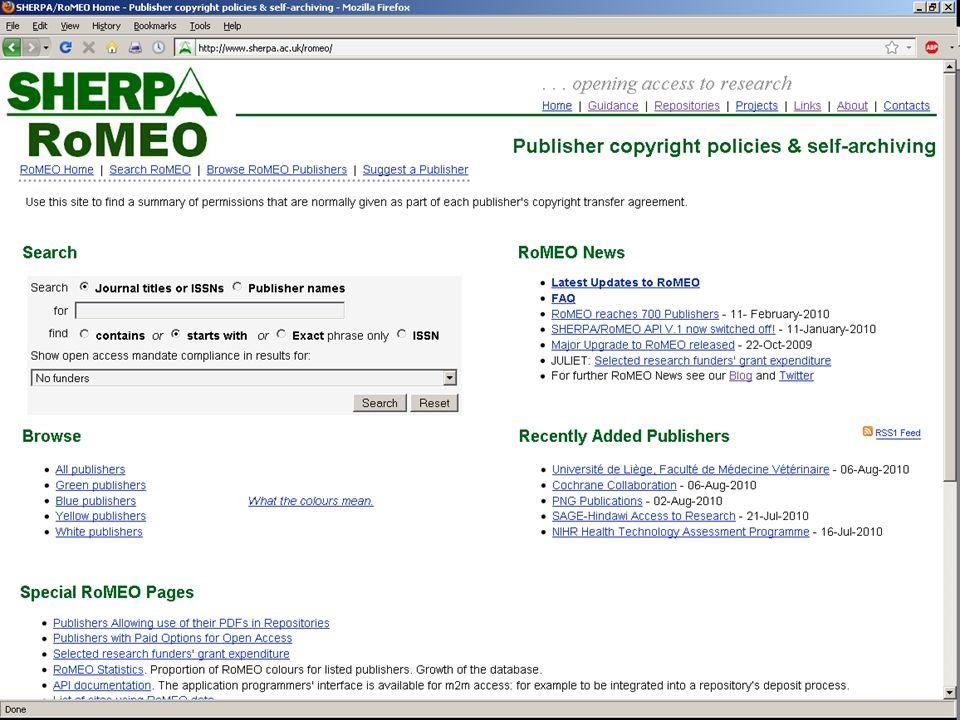 RoMEO Homepage