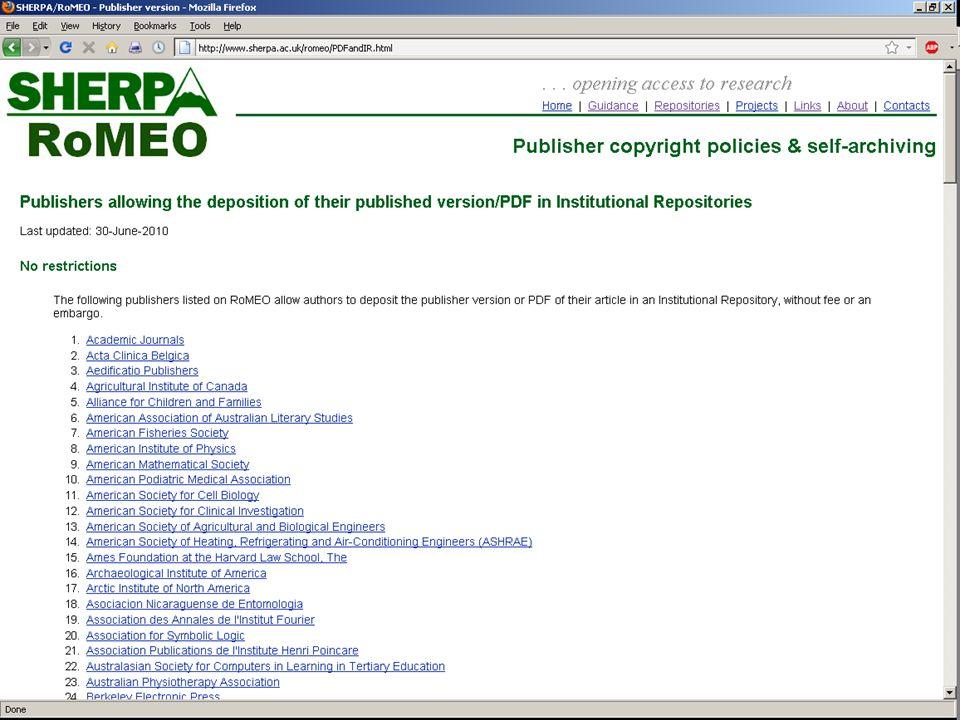 RoMEO pdfs