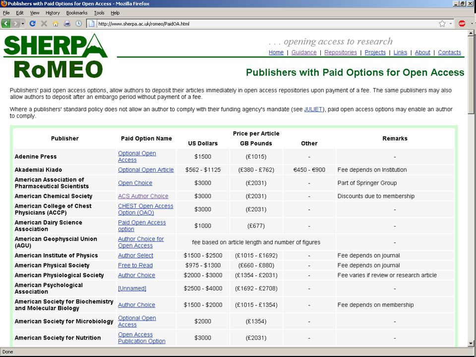 RoMEO Paid Options