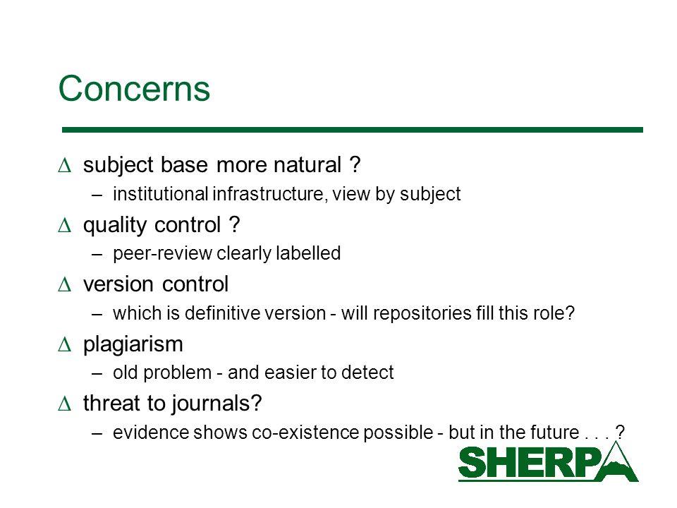Concerns subject base more natural .