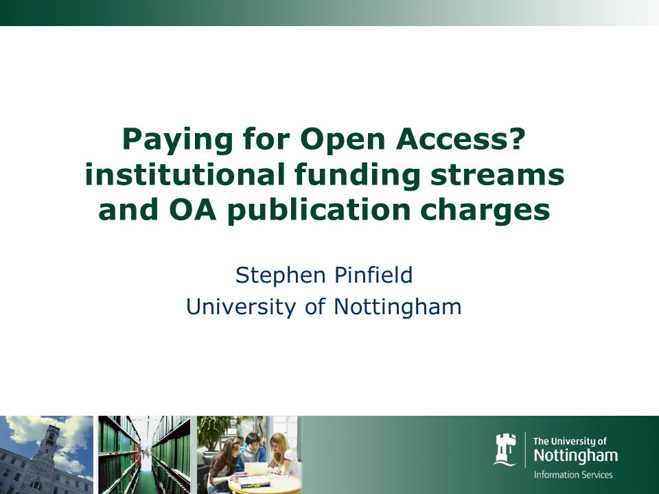 Paying for Open Access.