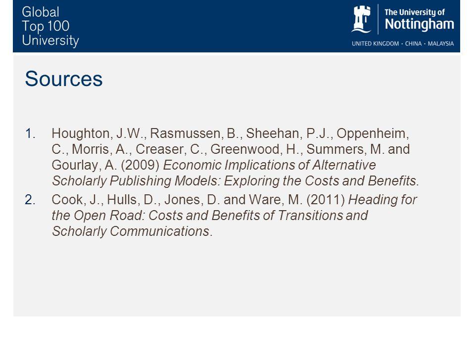 Sources 1.Houghton, J.W., Rasmussen, B., Sheehan, P.J., Oppenheim, C., Morris, A., Creaser, C., Greenwood, H., Summers, M.