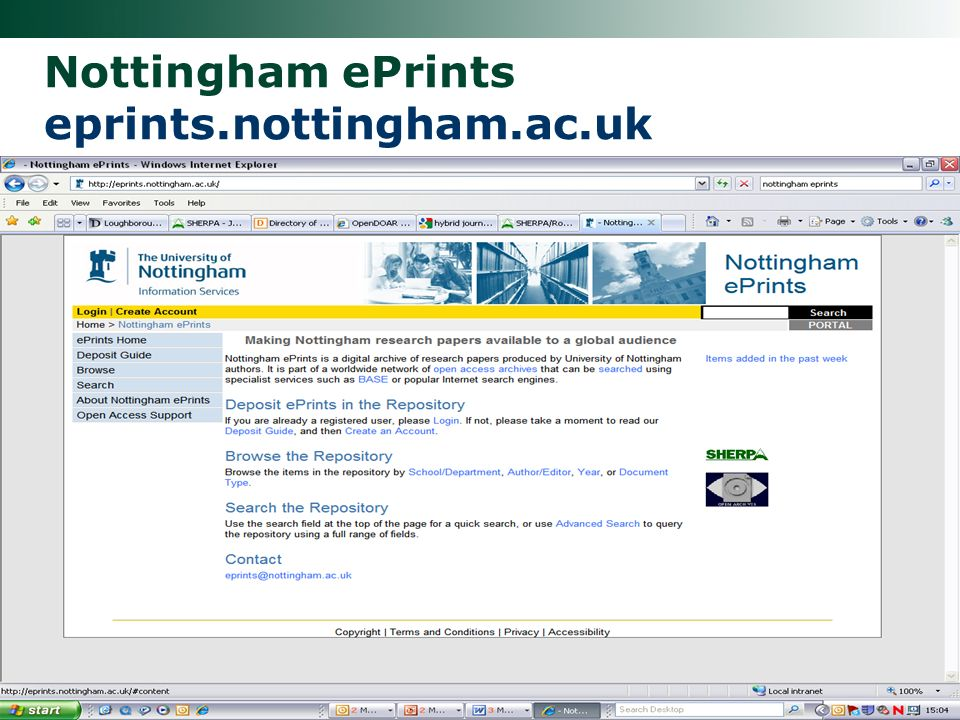 Nottingham ePrints eprints.nottingham.ac.uk