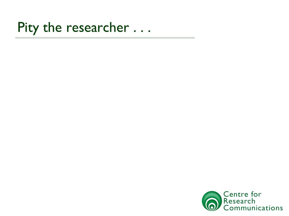 Researcher Funder Public Funder Institution Publisher Researchers view from the past... Funding