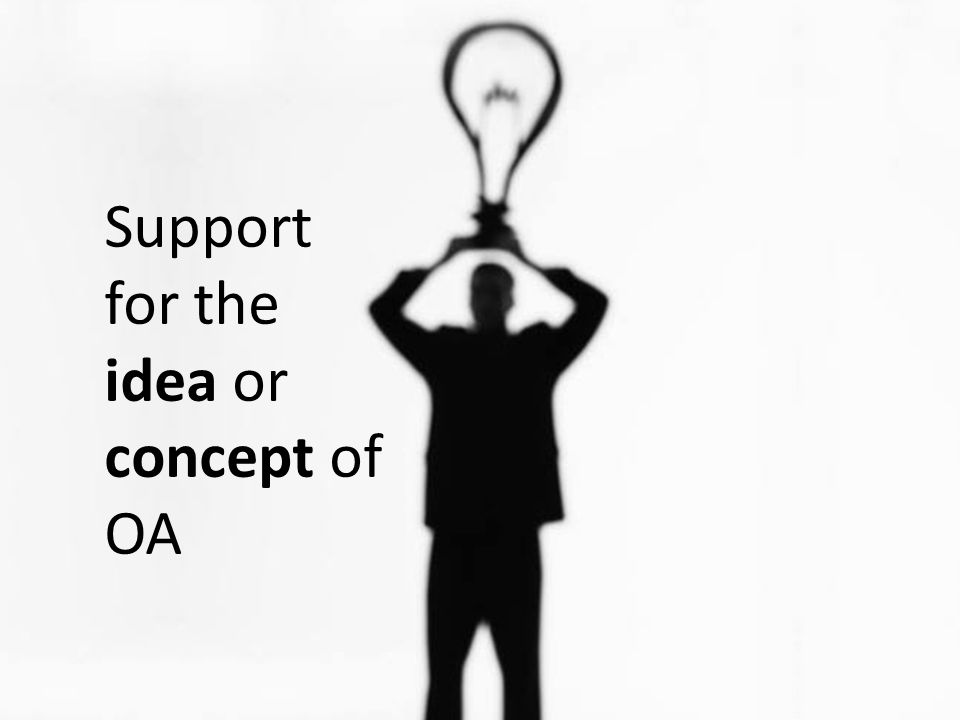 Support for the idea or concept of OA