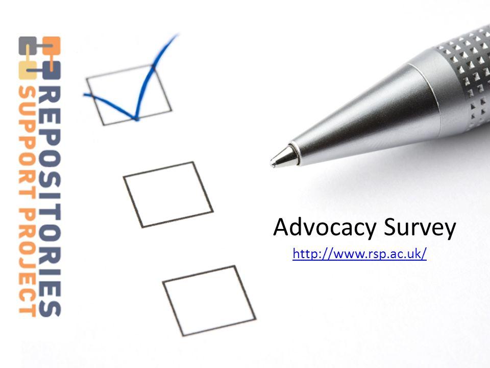 http://www.rsp.ac.uk/ Advocacy Survey