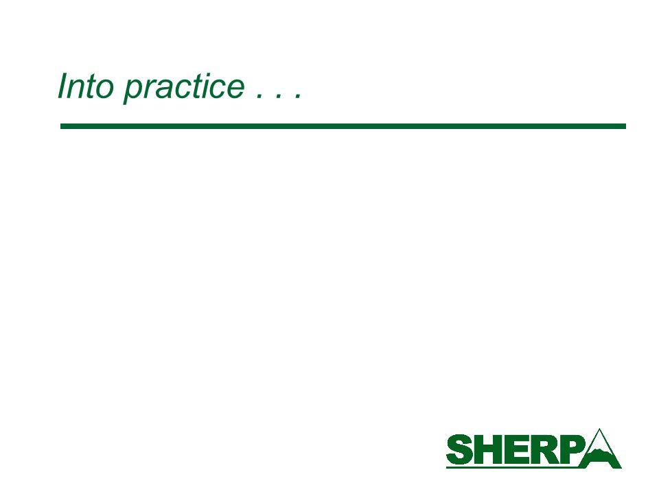Into practice...