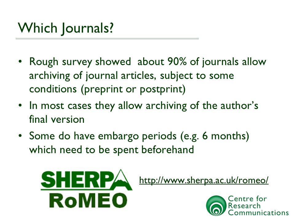 Which Journals.