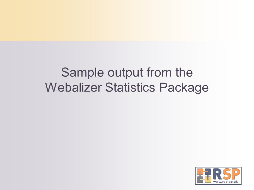Sample output from the Webalizer Statistics Package